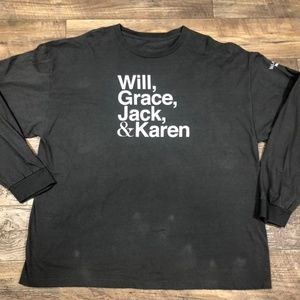 Other - NBC Will & Grace Grey XXL L/S T-Shirt